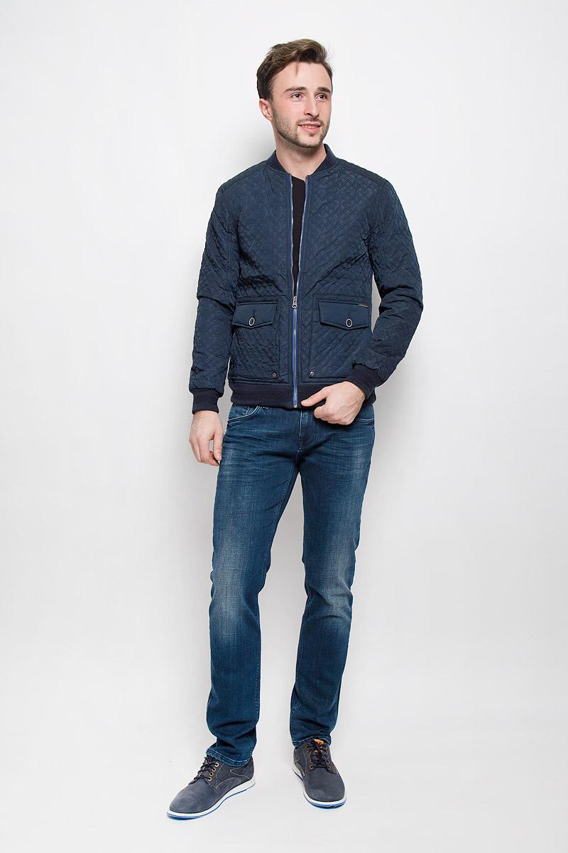 Куртка мужская Mexx, цвет: темно-синий. MX3023559_MN_JCK_008. Размер L (52) брюки мужские mexx цвет темно синий mx3022450 mn pnt 000 размер l 52