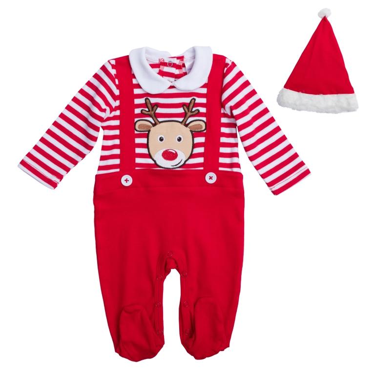 PlayToday Костюм карнавальный для мальчиков цвет красный белый размер 62 467801467801Хлопковый комбинезон. Полноценный наряд, не уступающий обычным комбинезонам по функциональности.Застегивается на кнопки на спине и внизу. Украшен декоративными подтяжками на пуговицах и аппликацией с мордочкой оленя. В комплекте есть шапка Санта-Клауса: украшена пушистым помпоном, края обработаны мягким белым мехом.