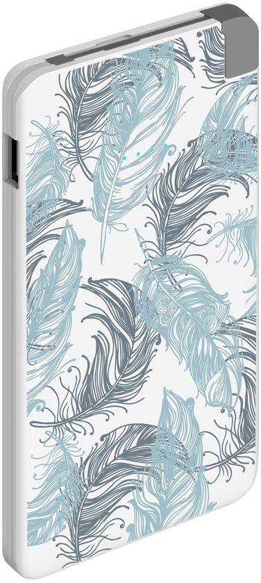 Deppa NRG Art Pastel Перья внешний аккумулятор (5000 мАч)