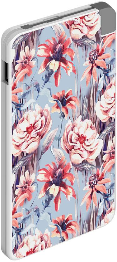 Deppa NRG Art Pastel Цветы внешний аккумулятор (5000 мАч)