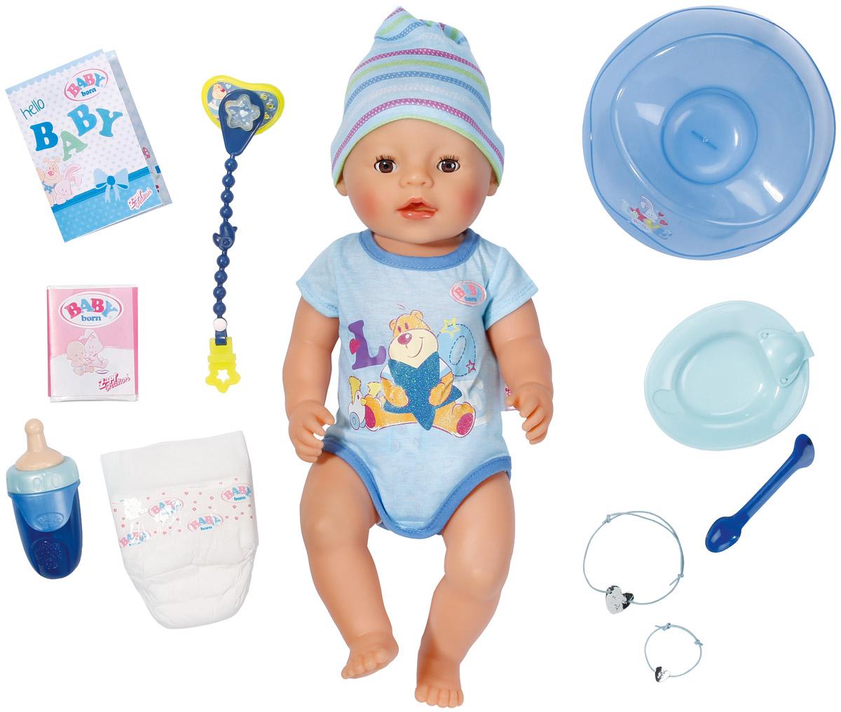 Baby Born Пупс цвет одежды серый голубой, ZAPF Creation
