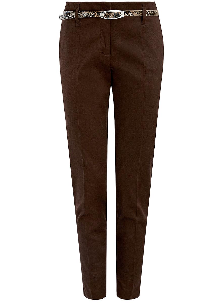 Купить Брюки женские oodji Collection, цвет: коричневый. 21703094-3/33482/3900N. Размер 38 (44-170)
