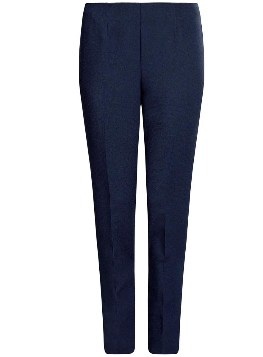 Брюки женские oodji Collection, цвет: темно-синий. 21700199-2/31291/7900N. Размер 40 (46-170)