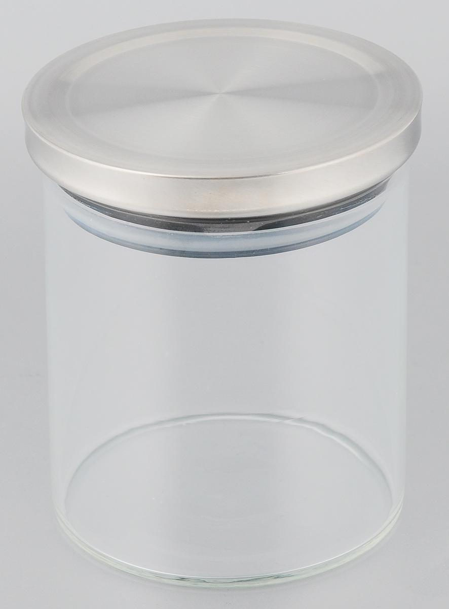 Банка для сыпучих продуктов Gotoff , с крышкой, цвет: стальной, 600 мл8254Банка Gotoff, выполненная из высококачественного стекла, станет незаменимым помощником на кухне. В ней будет удобно хранить разнообразные сыпучие продукты, такие как кофе, крупы, сахар, соль или специи. Прозрачная банка позволит следить, что и в каком количестве находится внутри.Банка Gotoff надежно закрывается крышкой, которая снабжена резиновым уплотнителем для лучшей фиксации. Такая банка не только сэкономит место на вашей кухне, но и украсит интерьер.Объем: 600 мл.Диаметр банки: 9,5 см.Высота банки: 11 см.
