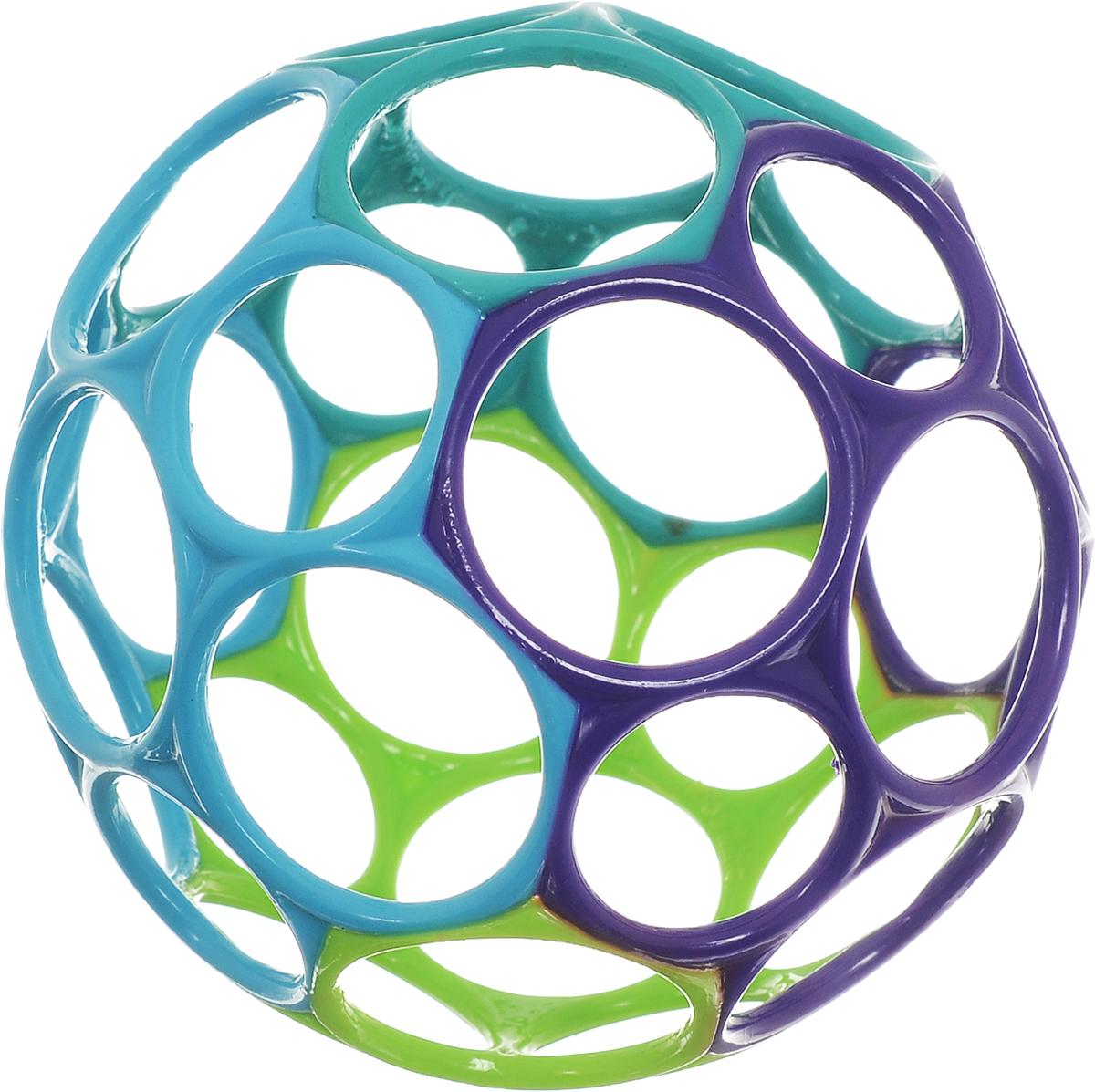 Oball Развивающая игрушка Мячик цвет фиолетовый голубой салатовый развивающие игрушки oball мячик на присоске