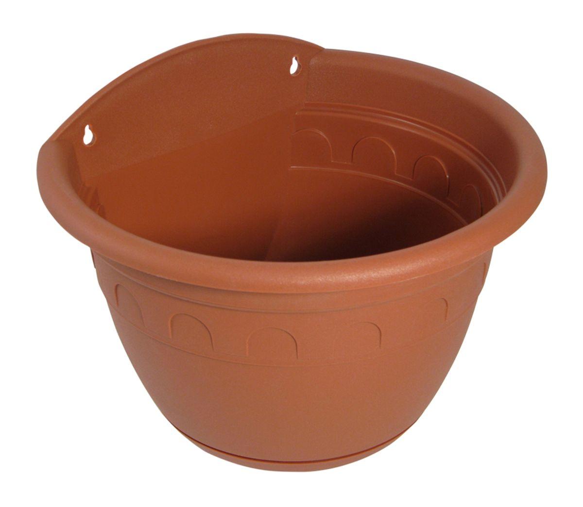 """Настенное кашпо Martika """"Колывань"""" изготовлено из высококачественного пластика и имеет два удобных отверстия для крепления.Изделие прекрасно подойдет для выращивания растений дома и на приусадебных участках. Диаметр (по верхнему краю): 20 см.Высота: 14 см."""