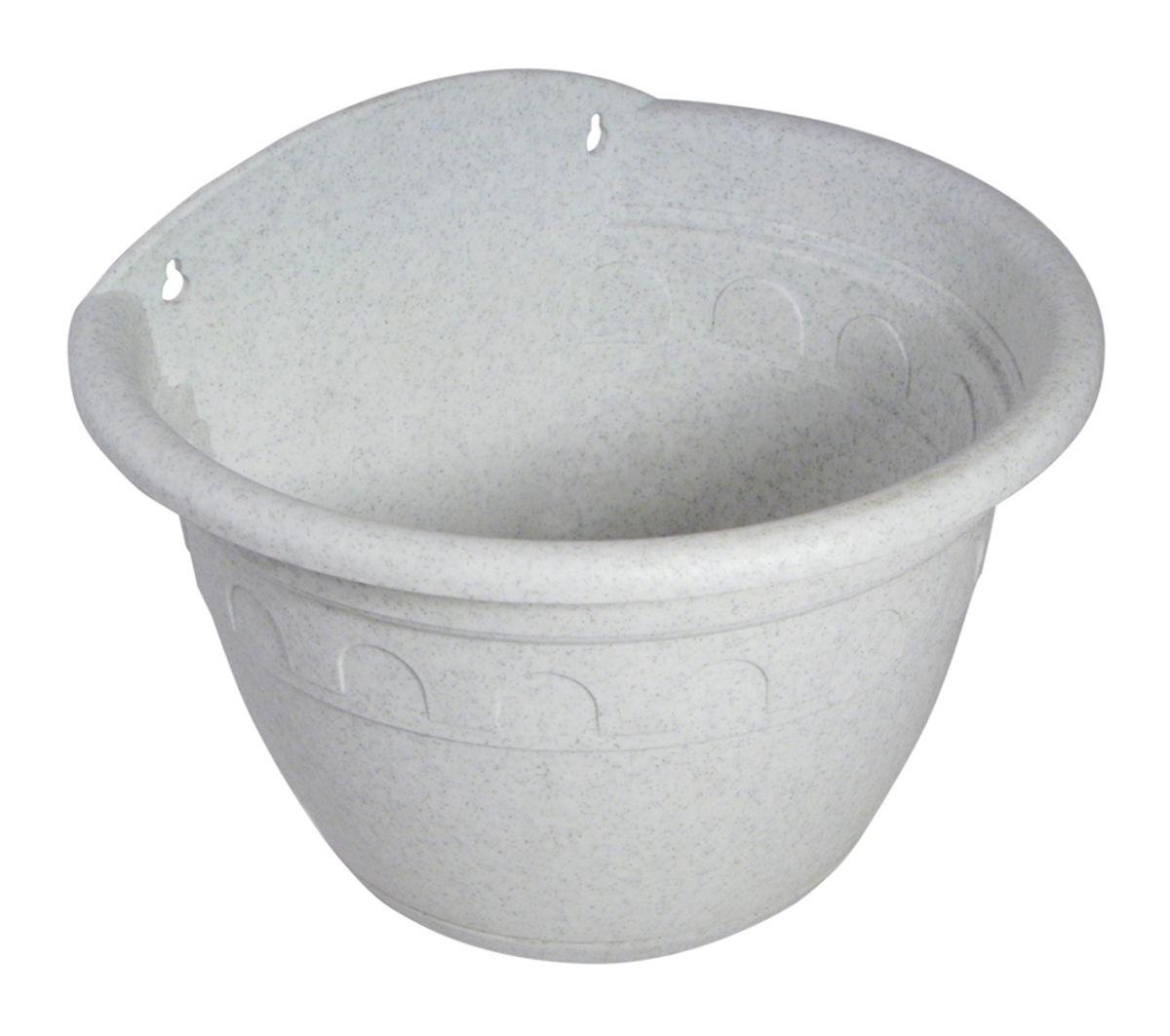 """Настенное кашпо Martika """"Колывань"""" изготовлено из высококачественного пластика и имеет два удобных отверстия для крепления.Изделие прекрасно подойдет для выращивания растений дома и на приусадебных участках. Диаметр (по верхнему краю): 24 см.Высота: 16 см."""