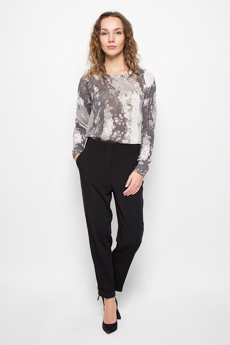Брюки женские Mexx, цвет: черный. MX3024425. Размер L (48/50) блузка женская mexx цвет молочный mx3002363 wm blg 010 размер l 48 50