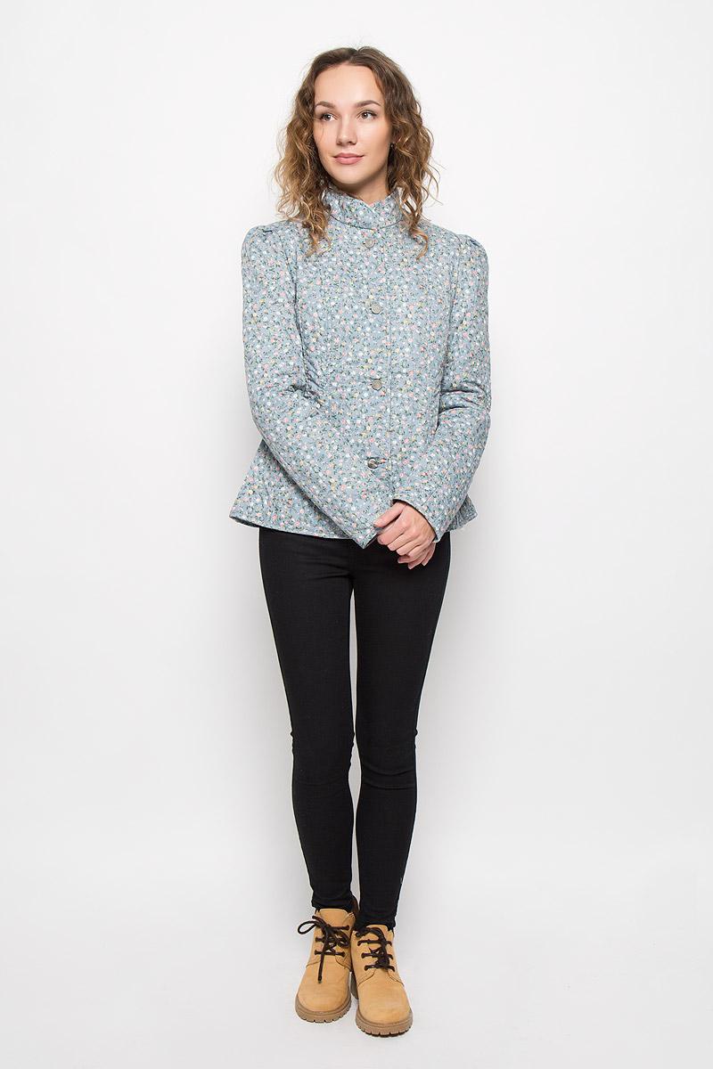 Куртка женская Holty Зипун, цвет: голубой. 020516-0022. Размер XL (54)