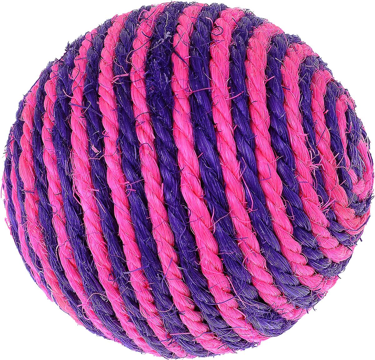 Игрушка для кошек Triol Шарик, цвет: розовый, фиолетовый, диаметр 9,5 смКк-03700Шарик - это забавная когтеточка, разработанная компанией Triol в виде небольшого шарика из сизали. Данные когтеточки пользуются особенным вниманием у кошек, ведь о них можно не только поточить коготки, но и весело поиграть гоняя по полу лапкой или покусывая зубами.Когтеточки - обязательный аксессуар для личной гигиены кошек, который помогает животным избавиться от мешающихся шелушащихся слоев когтя, причиняющих дискомфорт подушечкам лап. Кроме того волокна сизаля - натуральный растительный продукт, который не только являться очень крепким и стойким к повреждениям, но так же имеет отталкивающее бактерии покрытие, благодаря чему абсолютно безвреден для кошек.Диаметр игрушки: 9,5 см.