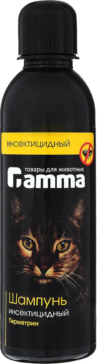 Шампунь для кошек Гамма!, инсектицидный, 250 мл гамма миска для кошек и собак n2