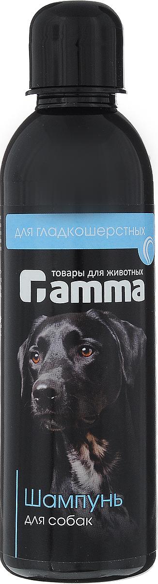 Шампунь Гамма!, для гладкошерстных собак, 250 млШг-10300Шампунь Гамма! предназначен для собак гладкошерстных пород. Шампунь содержит высококачественные моющие компоненты , кондиционирующие добавки, витамины групп А,В, Е, природные воска. Применение шампуня способствует оздоровлению шерстного покрова собак, появлению необыкновенного блеска и правильной укладки шерсти, препятствует несезонной линьке.Товар сертифицирован.