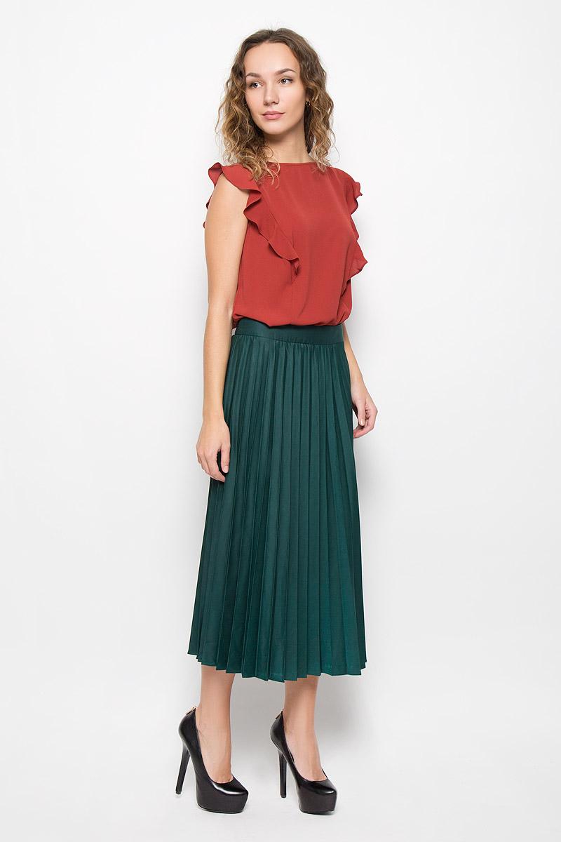 Блузка женская Mexx, цвет: терракотовый. MX3025234_WM_BLS_008. Размер XL (50/52) пижама женская kris line kylie цвет серый сиреневый размер xl 50 52