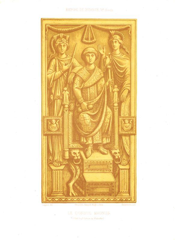 Римский консул Флавий Магн. Хромолитография. Франция, Париж, 1857-1858 год