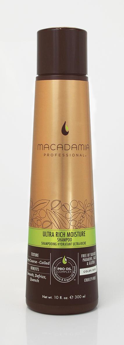 Macadamia Professional Шампунь увлажняющий для жестких волос, 300 мл100300Шампунь Macadamia Professional обеспечивает глубокое увлажнение волос и кожи головы благодаря сочетанию эксклюзивного комплекса Pro Oil Complex, масел авокадо и монгонго. Убирает эффект пушистости, делает волосы мягкими.Содержит UVA/UVB фильтры, сохраняя цвет окрашенных волос. Защищает волосы от неблагоприятных факторов окружающей среды.