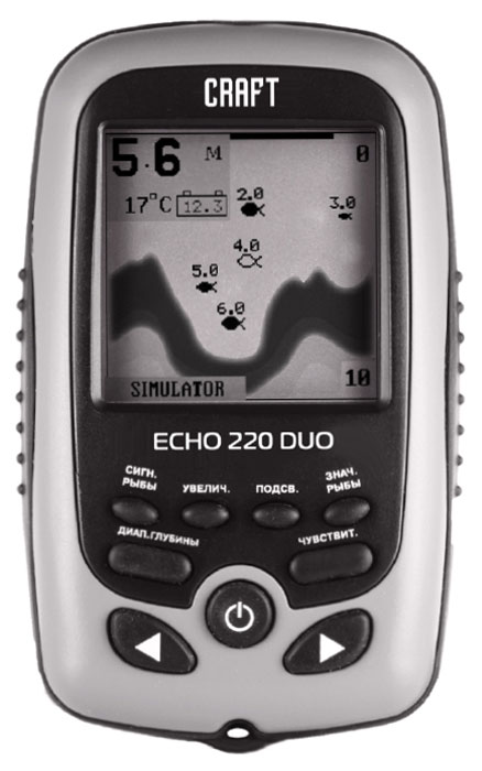 Эхолот портативный Craft Echo 220 Duo Ice Edition эхолот lucky ff718 скат луч