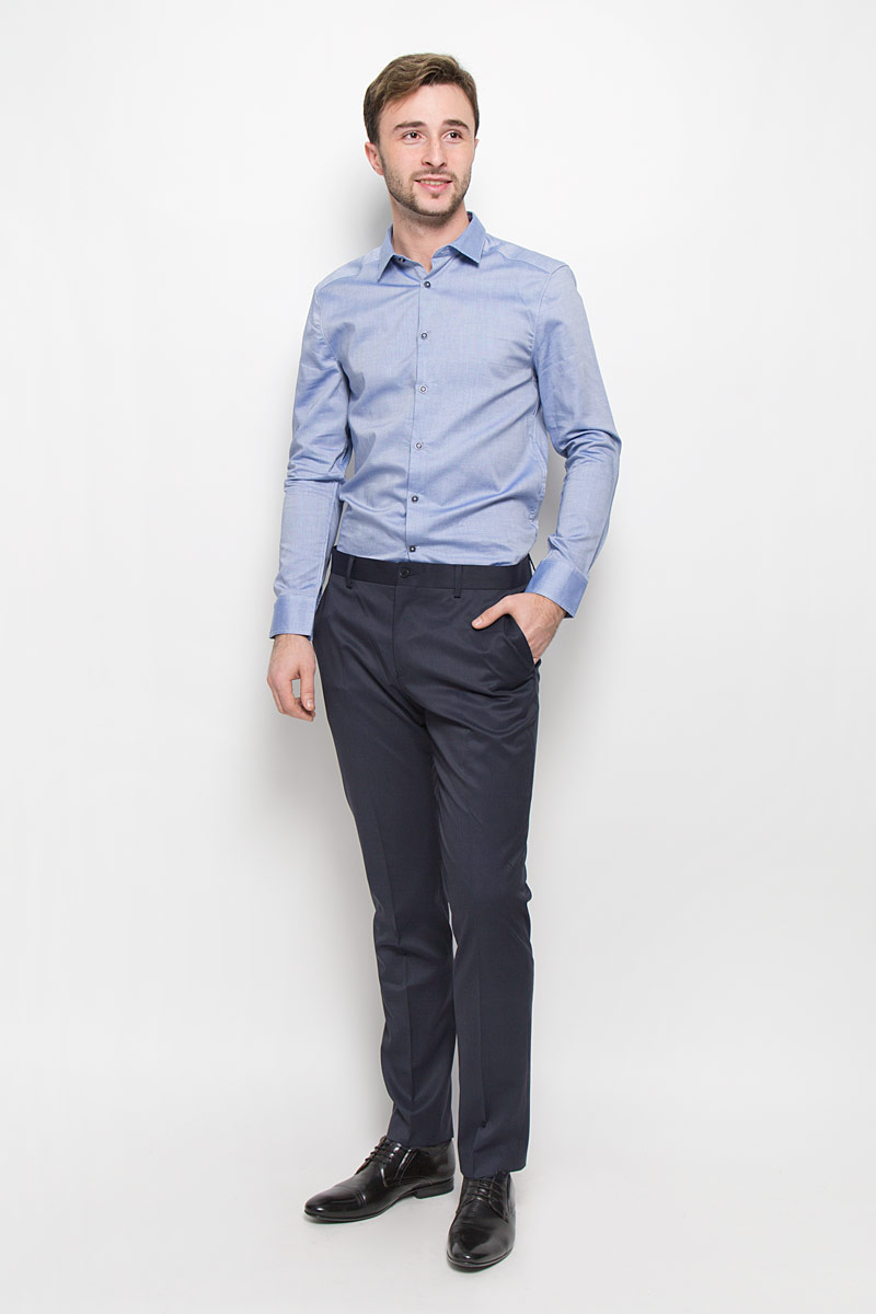 Брюки мужские Mexx, цвет: темно-синий. MX3025343. Размер L (50) брюки мужские mexx цвет темно синий mx3022450 mn pnt 000 размер l 52