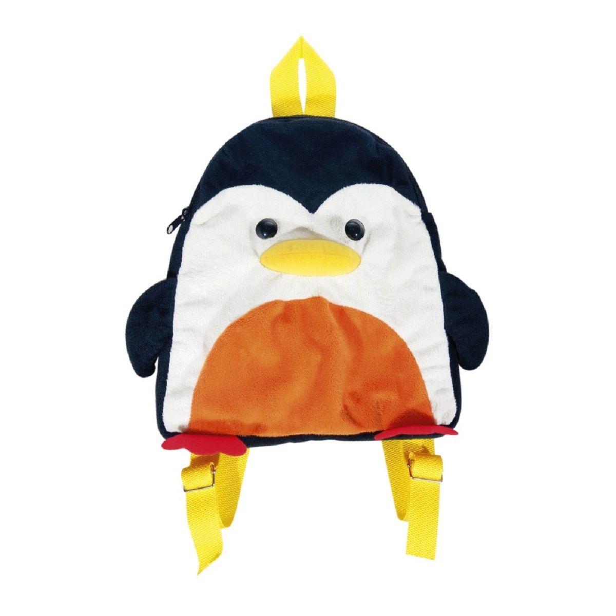Fancy Рюкзак дошкольный ПингвинRDI01Легкий и компактный дошкольный рюкзачок Fancy - это красивый и удобный аксессуар для вашего ребенка. Рюкзак выполнен в виде милого пингвина. Рюкзак состоит из одного отделения на застежке-молнии. В отделении легко поместятся не только игрушки, но даже тетрадка или книжка. Благодаря регулируемым лямкам, рюкзачок подходит детям любого роста. Текстильная ручка помогает носить аксессуар в руке или размещать на вешалке.