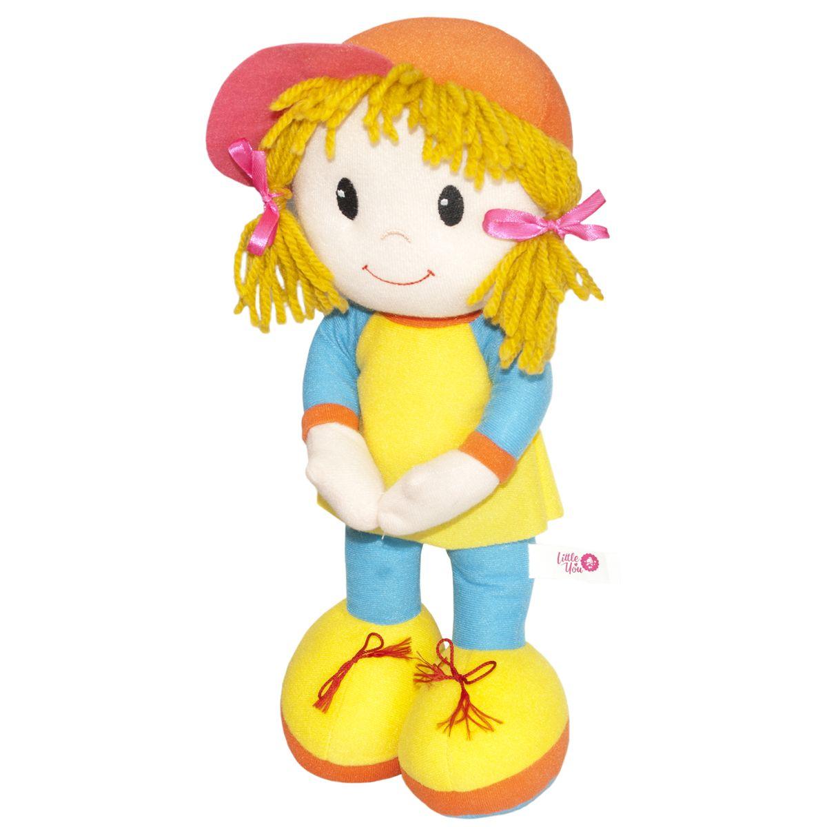 Little You Мягкая кукла Кейт цвет одежды голубой желтый