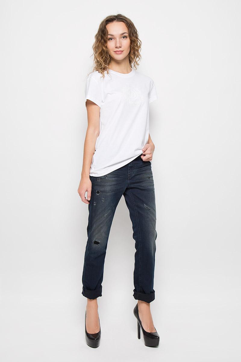 Футболка женская Diesel, цвет: белый. 00STTS-00CZJ/100. Размер M (46) блузка diesel цвет черный белый 00svv6 0canq 900 размер l 46