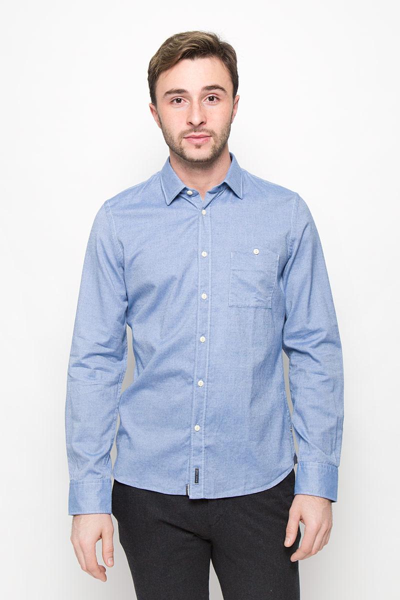 Рубашка мужская Marc O'Polo, цвет: голубой. 111242184/G80. Размер M (46) рубашка c n c costume national рубашки с отложным воротником