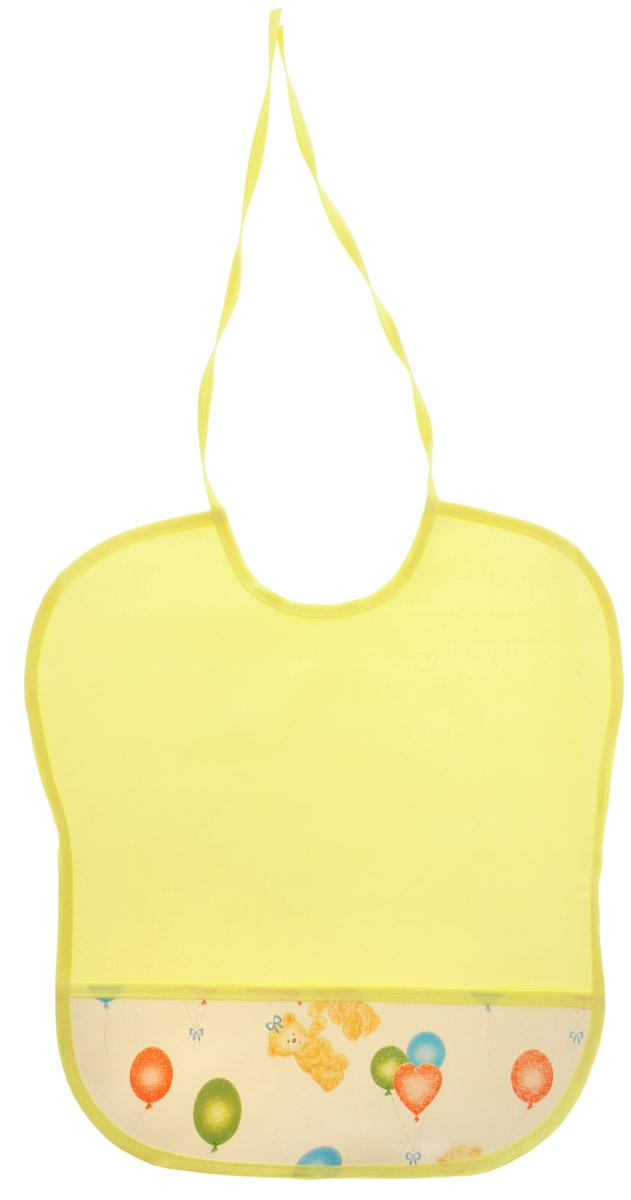 Колорит Нагрудник цвет желтый белый 33 х 33 см