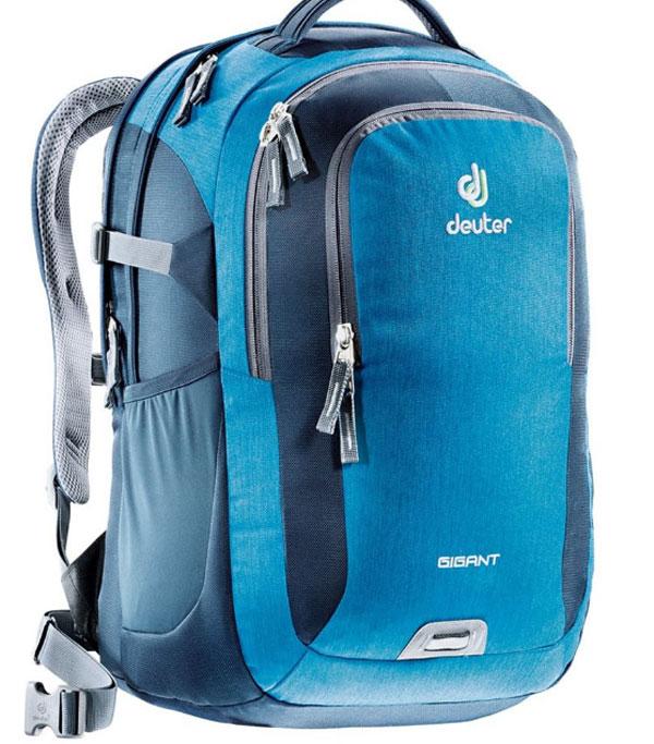 Рюкзак Deuter Daypacks Gigant, цвет: синий, 32 л80424_3019Когда вам необходимо иметь все при себе, когда вы собираетесь в университет, тот тут Deuter Daypacks Gigant спешит на помощь. Все необходимые документы и книги с легкостью уместятся в этом рюкзаке. Также есть наличие большого мягкого отделения для Laptop. Рюкзак имеет анатомическую форму, вентиляцию спины, мягкие, регулируемые лямки.Несмотря на то, что у вас максимальная загрузка рюкзака, вы все еще по-прежнему с комфортом можете перемещаться от одной лекции к другой. Когда в университете накопилось множество необходимых дел, модель Deuter Gigant поможет вам легко справиться с горой бумаг, книг и папок. А если вам не нужно нести ноутбук, то в большое основное отделение на мягкой подкладке можно поместить еще больше груза. Благодаря эргономичным мягким плечевым лямкам и системой вентиляции спины Airstripes даже тяжелый груз удобно носить.Особенности:- секционное отделение для компьютерных принадлежностей; - большое отделение под ноутбук 17 дюймов или iPad (полностью защищенное жесткими стенками) ; - передний карман на молнии; - съемный поясной ремень; - большое основное отделение, в которое помещаются папки для бумаг; - дно имеет мягкую подкладку; - компрессионные стропы; - удобная ручка для переноски; - большой передний карман с органайзером; - боковые сетчатые карманы; - петля с отражателем. Материал: Super-Polytex/Ballistic. Вес: 1080 г. Объем: 32 л. Размеры отделения под ноутбук: 32х40 см. Размеры рюкзака: 47 х 35 х 27 см.