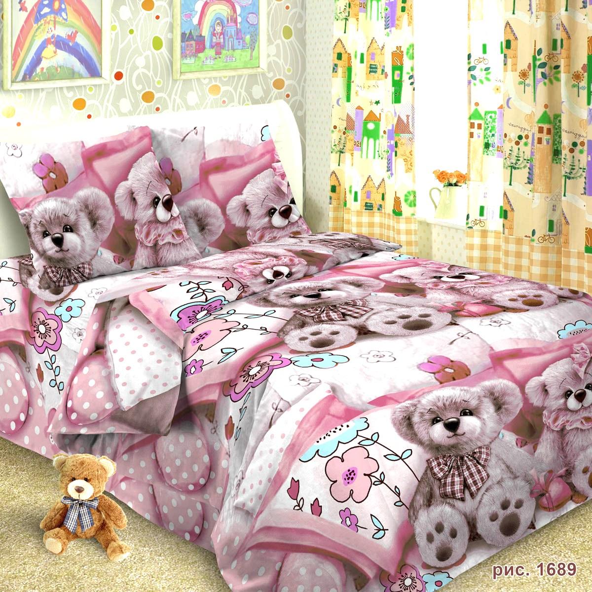 Letto Комплект детского постельного белья Тэдди 3 предмета, Letto Home Textile
