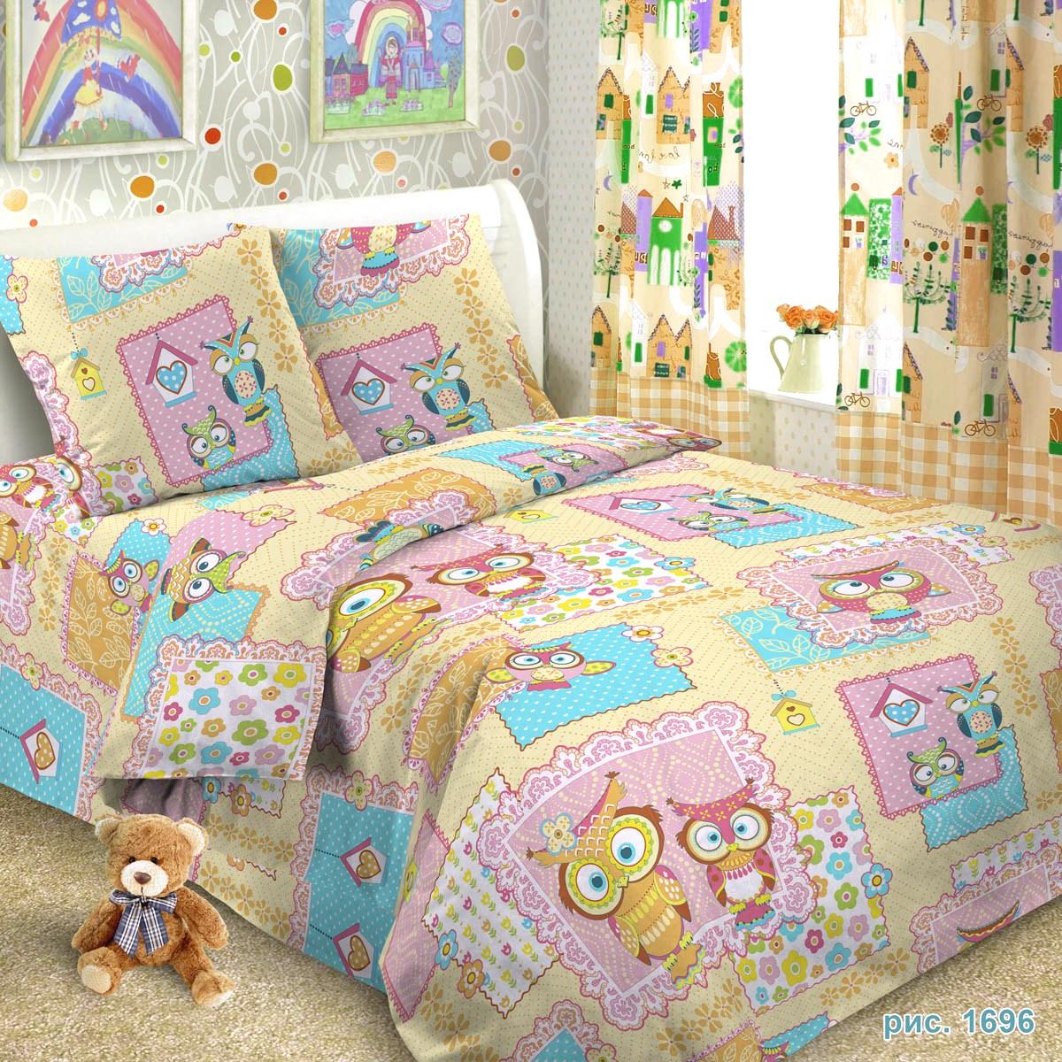 Letto Комплект детского постельного белья Сова 3 предмета, Letto Home Textile