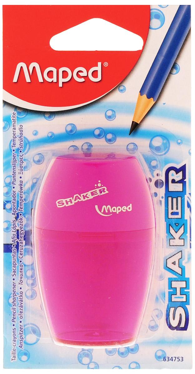Maped Точилка Шейкер с контейнером цвет розовый maped точилка eject clic цвет бирюзовый