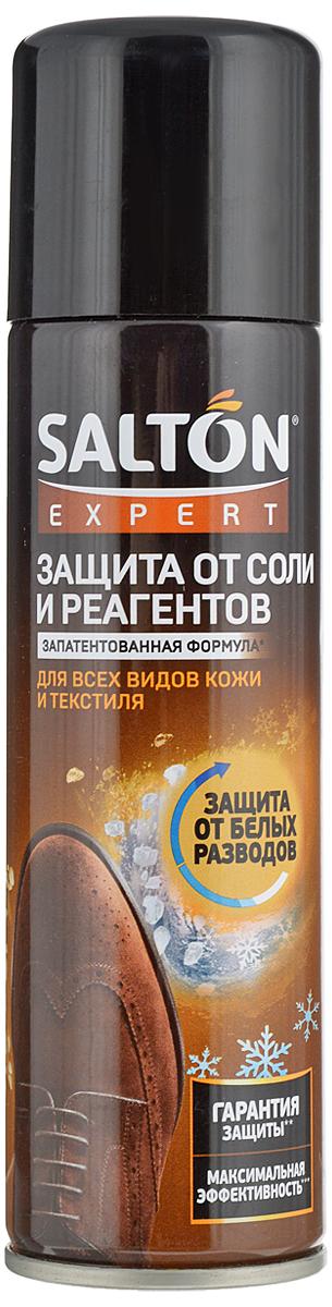 Средство для защиты обуви от реагентов и соли Salton Expert, 250 мл52020001Средство Salton Expert предотвращает появление солевых разводов на поверхности обуви. Обеспечивает длительную защиту от воздействия антигололедных реагентов, снега, грязи и воды. Подходит для гладкой кожи, замши, велюра, нубука, текстиля и мембранных материалов. Не использовать для лаковой кожи. В снежную и сырую погоду, а также в сезон обработки улиц реагентами рекомендуется ежедневное применение.Объем: 250 мл. Товар сертифицирован.