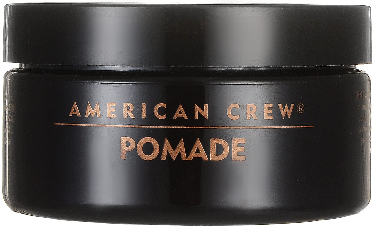 American Crew Помада со средней фиксацией и высоким уровнем блеска для укладки волос Pomade 85 г7209384000American Crew Pomade Помада со средней фиксацией и высоким уровнем блеска для укладки волос обеспечивает среднюю фиксацию волос и высокий уровень блеска. В состав средства входит такой компонент, как ланолин (животный воск), который придаёт волосам необходимую стойкость от воздействия внешних факторов. Также помада со средней фиксацией Американ Крю содержит сахарозу, которая быстро и эффективно увлажняет волосы, защищает кожу головы от сухости при использовании фена.Данный продукт компании American Crew является современной альтернативой гелям для укладки волос и прекрасно подходит для ухода за кучерявыми волосами, не наносит никакого вреда волосяной структуре. Помада Американ Crew с лёгкостью позволит создать необходимую причёску, при этом обеспечивая отличную стойкость волос.Степень фиксации: средняя фиксация.