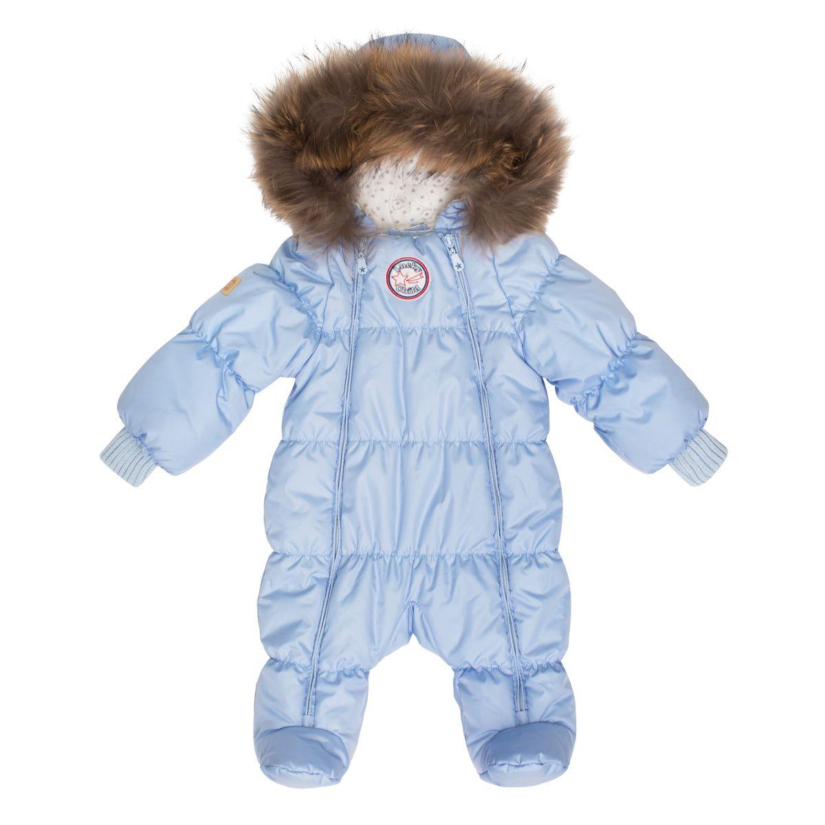 Комбинезон для мальчика Lucky Child, цвет: голубой. В1-2. Размер 74В1-2Неважно, будет ли ваш кроха спать всю прогулку или пойдёт разглядывать снег, ему будет удобно в этом тёплом и лёгком комбинезоне. Сверху - качественная курточная ткань с влагостойкой пропиткой, внутри - наполнитель Isosoft и трикотажная подкладка с воздухопроницаемыми и водоотводными свойствами. Удобная двойная молния позволяет легко одеть и раздеть ребёнка или просто поменять подгузник и продолжить прогулку при температуре до -30°. Ручки младенца можно легко спрятать в отворачивающуюся варежку. Капюшон оторочен натуральным мехом енота.