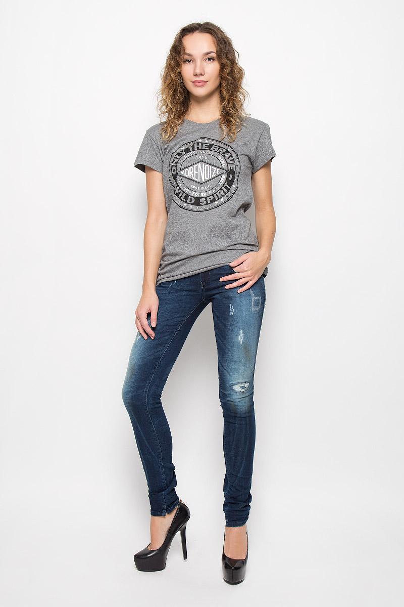 Футболка женская Diesel, цвет: серый меланж. 00STRE-00CZJ/96X. Размер XL (52) футболка женская diesel цвет черный 00srtx 0qaml размер xl 50