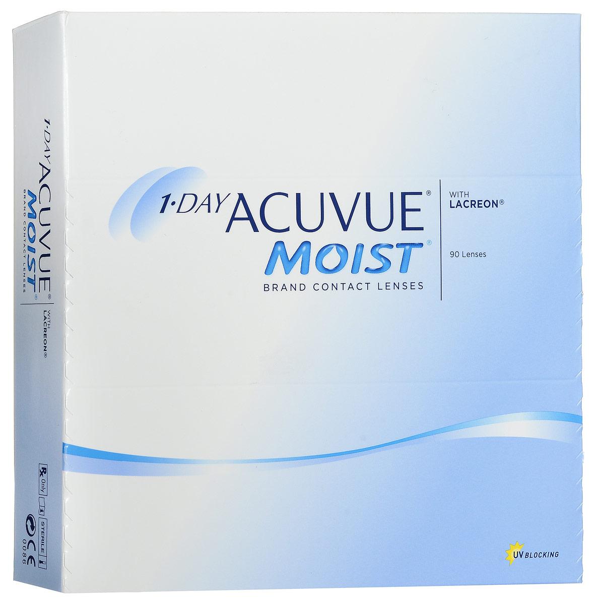 Johnson & Johnson контактные линзы 1-Day Acuvue Moist (90шт / 8.5 / -4.75)12091Контактные линзы 1-Day Acuvue Moist для ежедневной замены от известной компании Johnson & Johnson Vision Care созданы для того, чтобы ваши глаза чувствовали себя увлажненными, а ощущение комфорта и свежести не покидало весь день. Уже исходя из названия (Moist) становится понятно, что при изготовлении линз используется дополнительный увлажнитель, благодаря которому влага удерживается внутри линзы даже в конце дня. Если ваши глаза подвергаются высоким нагрузкам в течение дня, то именно 1-Day Acuvue Moist подойдут вам лучше всего. Они обладают всеми преимуществами однодневных линз: не требуют дополнительных расходов по уходу, комфортны в ношении и так же, как и 1-Day Acuvue, снабжены солнечным фильтром. Характеристики:Материал: этафилкон А. Кривизна: 8.5. Оптическая сила: - 4.75. Содержание воды: 58%. Диаметр: 14,2 мм. Количество линз: 90 шт. Размер упаковки: 15,5 см х 15,5 см х 3,2 см. Производитель: Ирландия. Товар сертифицирован.Контактные линзы или очки: советы офтальмологов. Статья OZON Гид