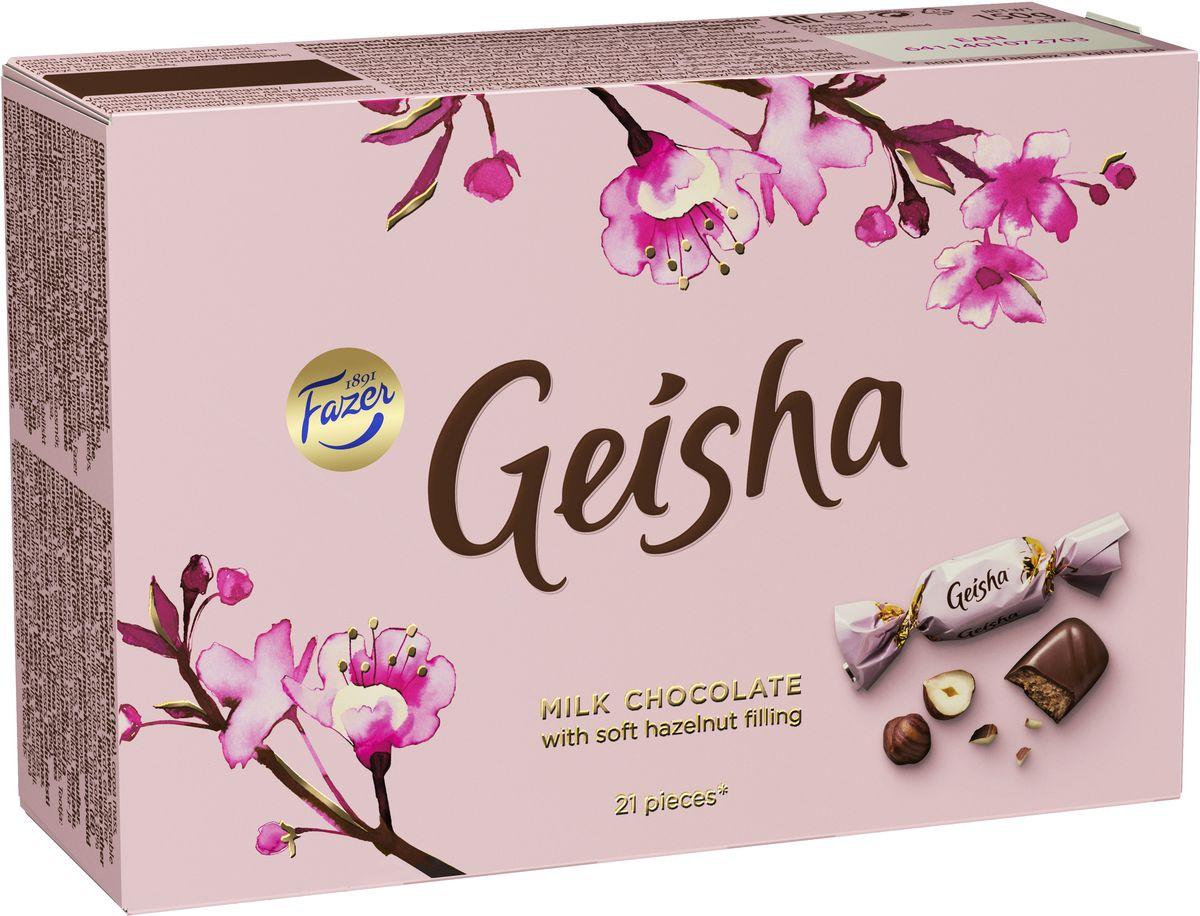 Fazer Geisha Конфеты шоколадные c тертым орехом, 150 г вижер пряники шоколадные 350 г