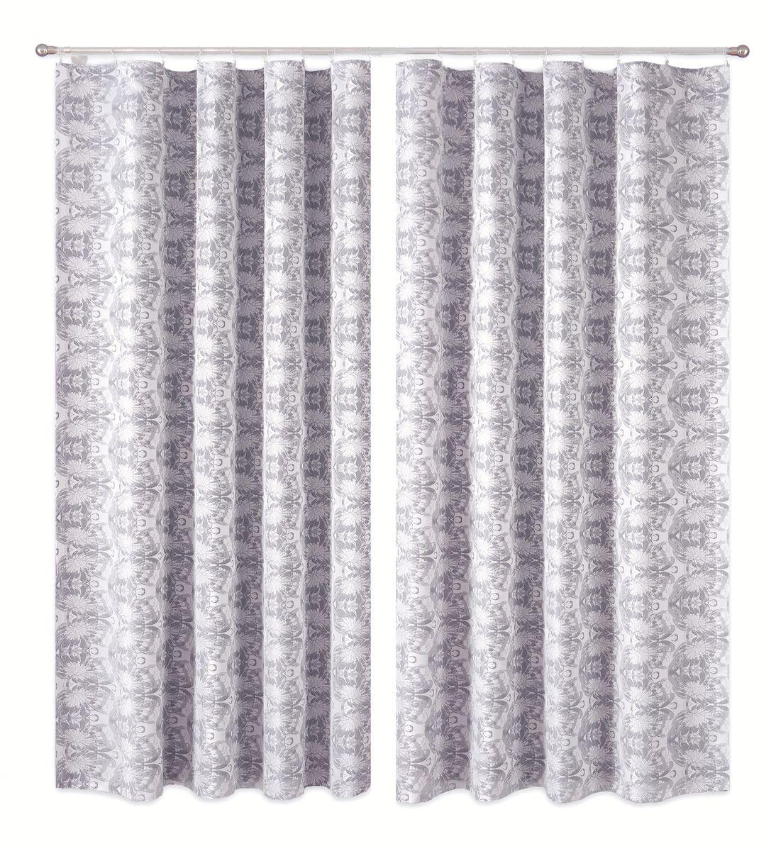 Комплект штор P Primavera Firany, цвет: серый, белый, высота 250 см. 11100131110013Комплект шториз полиэстровой жаккардовой ткани с пришитой шторнойлентой. Размер - ширина 180 см высота 250см. Набор 2 штуки. Цвет серо-белый.Размер: ширина 180 х высота 250