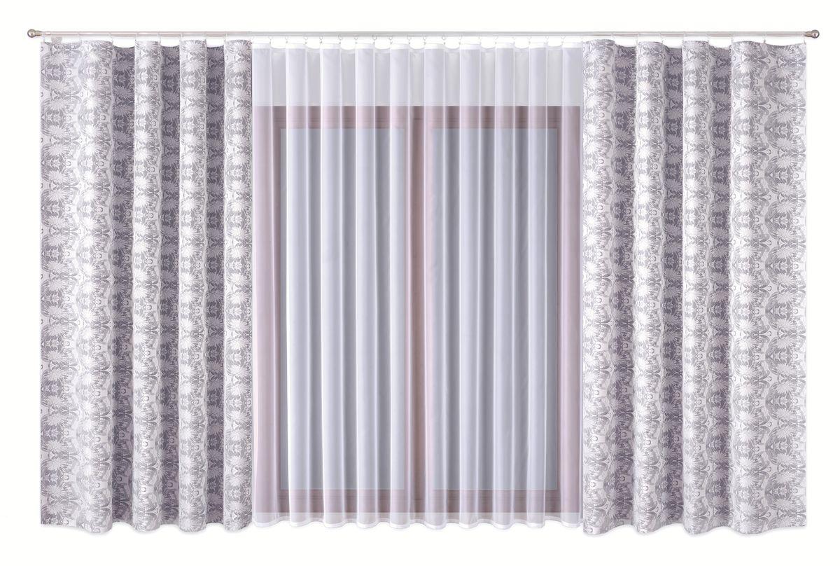 Комплект штор P Primavera Firany, цвет: серый, белый, высота 270 см. 1110014