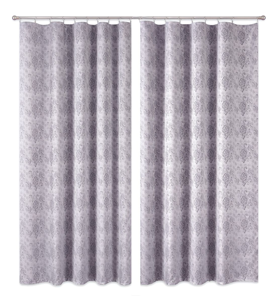 Комплект штор P Primavera Firany, цвет: серый, высота 250 см. 11100211110021Комплект шториз полиэстровой жаккардовой ткани с пришитой шторнойлентой. Размер - ширина 180 см высота 250см. Набор 2 штуки. Цвет серый.Размер: ширина 180 х высота 250