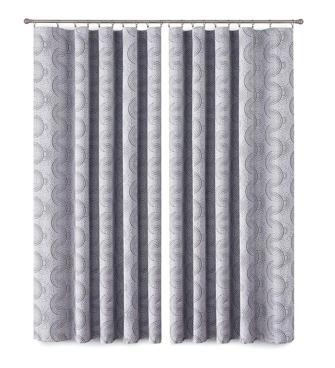 Комплект штор P Primavera Firany, цвет: серый, высота 280 см. 11100271110027Комплект шториз полиэстровой жаккардовой ткани с пришитой шторнойлентой. Размер - ширина 180 см высота 280см. Набор 2 штуки. Цвет серый.Размер: ширина 180 х высота 280