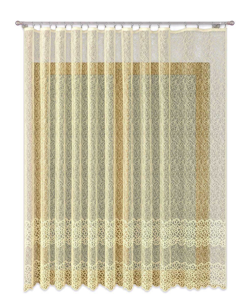 Тюль P Primavera Firany, цвет: кремовый, высота 270 см. 11101161110116Тюль жаккардовая с пришитойшторной лентой. Размер: ширина400см высота 270см. Цвет крем.Размер: ширина 400 х высота 270
