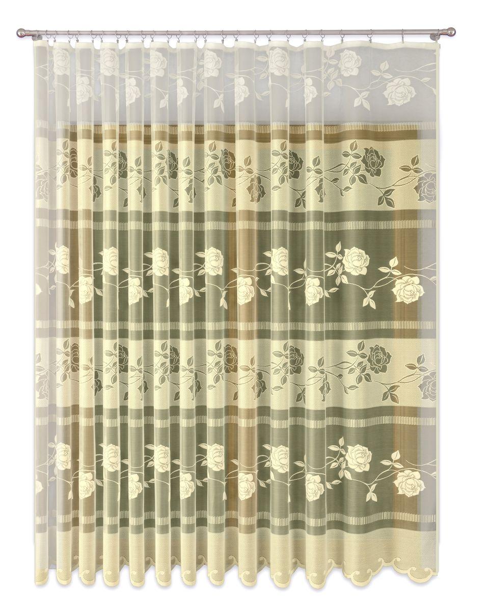 Тюль P Primavera Firany, на ленте, цвет: кремовый, высота 280 см. 1110150 primavera