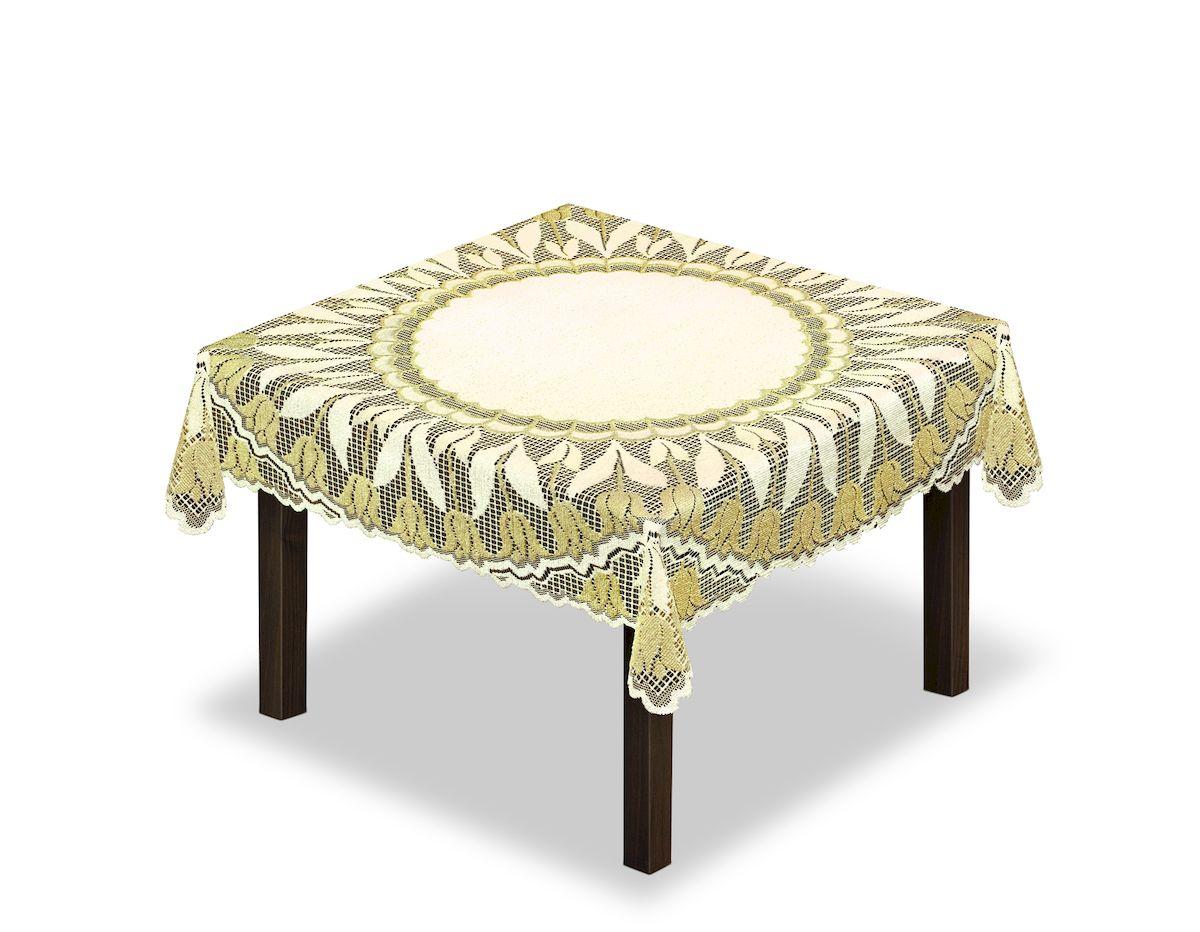 Скатерть Haft, квадратная, цвет: кремовый, золотистый, 100 x 100 см. 228638 скатерть haft овальная цвет кремовый золотистый 150 x 300 см 54111 150