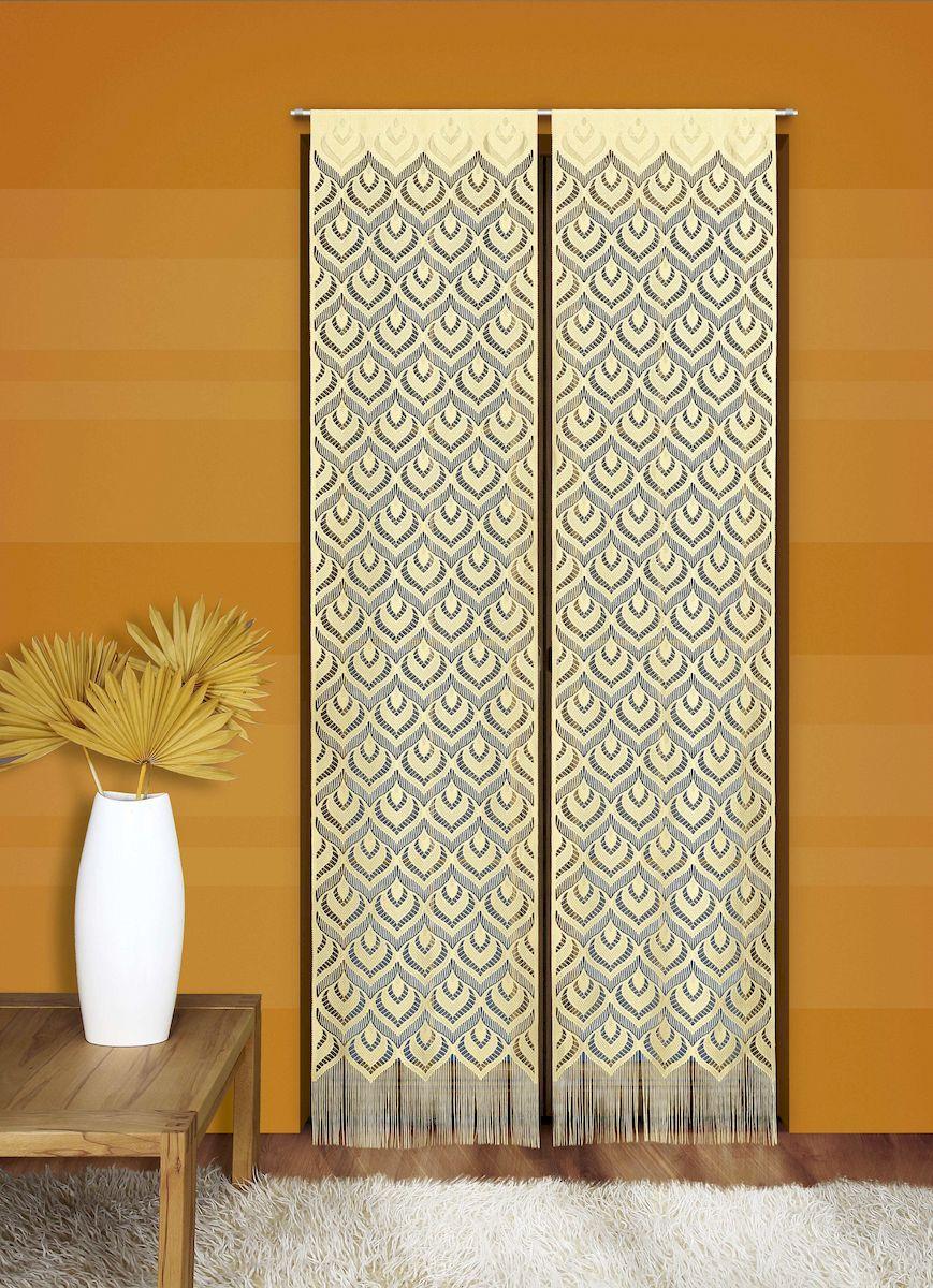Гардина-панно Wisan, цвет: кремовый, высота 240 см. 528А528А кремГардина-панно кремового цвета из ажурной ткани. Крепится на кулиску.Размер: ширина 50 х высота 240