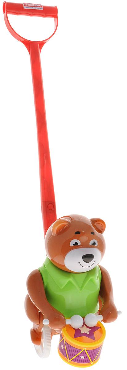 Stellar Игрушка-каталка Барабанщик цвет коричневый салатовый stellar игрушка каталка улитка