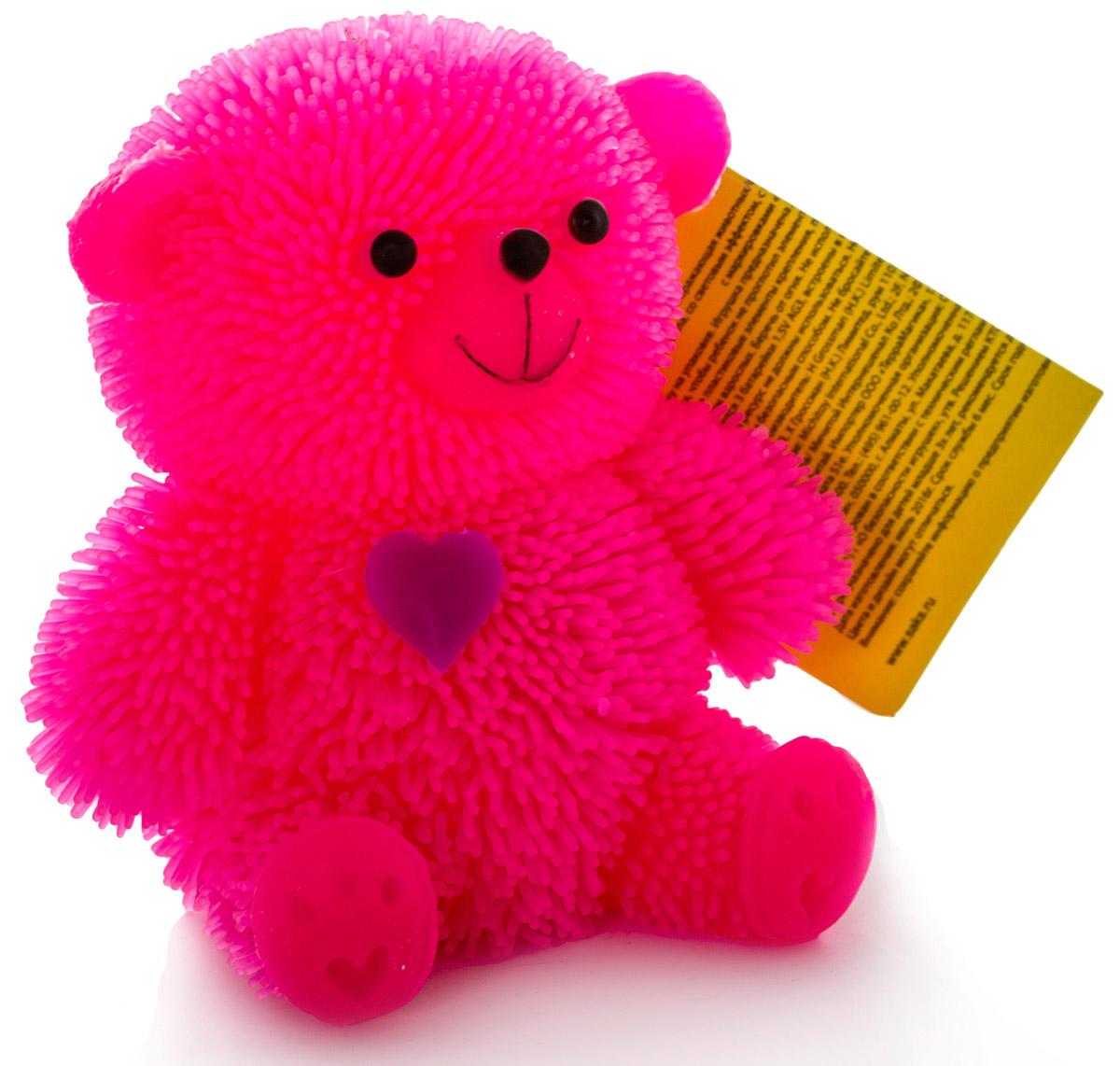 HGL Фигурка Медведь с подсветкой цвет розовый