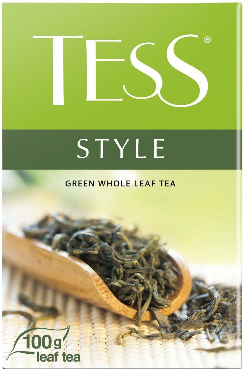 Tess Style зеленый листовой чай, 100 г0589-14Природный букет благородного зеленого чая из провинции Фудзянь раскрывается во всем великолепии: насыщенный, но легкий вкус, воздушный цветочный аромат, настой цвета светлого нефрита и долгое, с нотами сладости, послевкусие.Всё о чае: сорта, факты, советы по выбору и употреблению. Статья OZON Гид