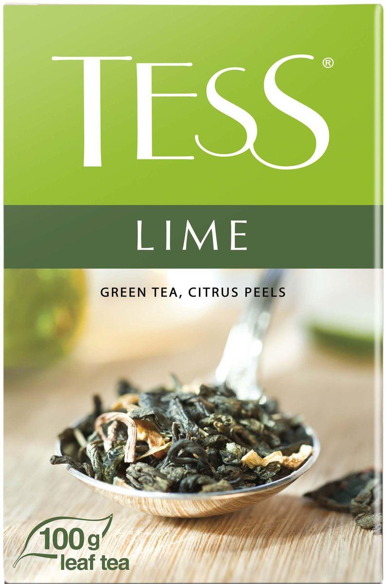 Tess Lime зеленый листовой чай с цедрой цитрусовых, 100 г0590-15Своей индивидуальностью этот сорт обязан гармоничному сочетанию насыщенного, но легкого вкуса классического зеленого чая из провинции Фудзянь и свежей горчинки цедры сочного лайма. Заключительный штрих - мягкий оттенок шиповника - придает завершенность чайному букету.