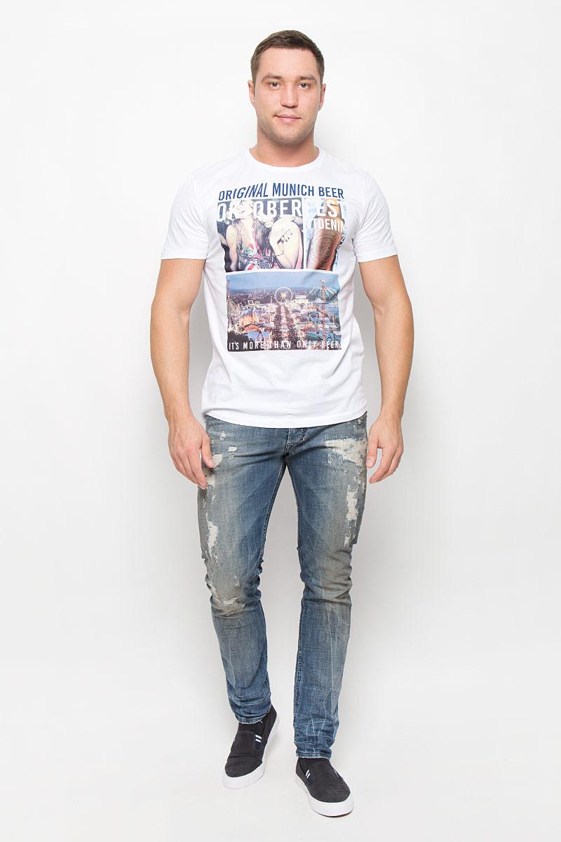 Футболка мужская Tom Tailor Denim, цвет: белый. 1035860.00.12_2000. Размер XXL (54) футболка tom tailor denim tom tailor denim to793ewpzf86