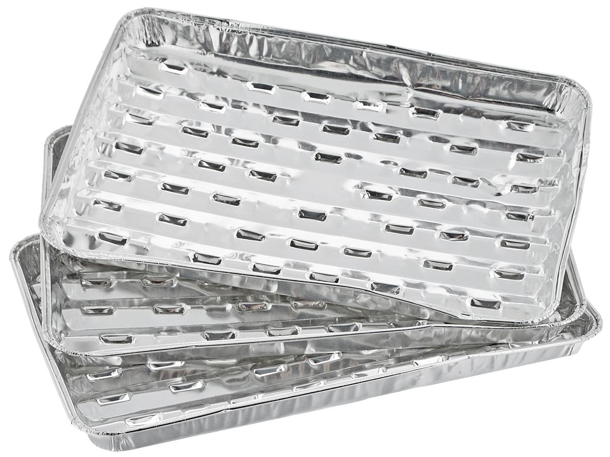 Набор форм для запекания Marmiton, 34 х 22,4 х 3,3 см, 3 шт11358Набор форм Marmiton, выполненный из алюминиевой фольги, идеально подходит для запекания, обжарки, хранения и замораживания продуктов, а также быстрого разогрева приготовленных блюд. Изделия обладают всеми свойствами обычной фольги для запекания: гигиеничные, легкие, прочные, теплопроводные.Использовать для запекания на гриле и в духовой печи (до +280°C), для замораживания (до -40°C).